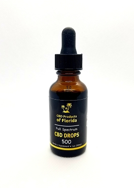 CBD Full Spectrum Tincture Drops 500mg